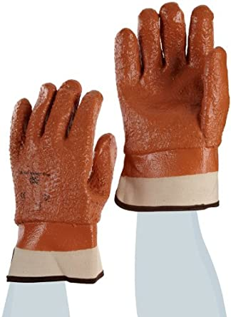 Ansell Winter Monkey Grip Jersey Glove Vinyl Coating