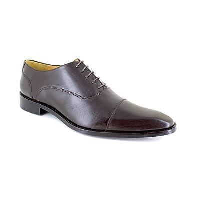 a69c5e37187 J.BRADFORD Richelieu Cuir Marron JB-GEMINO  Amazon.fr  Chaussures et Sacs