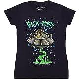 Ripple Junction Rick & Morty Spaceship Juniors T-Shirt - Navy (Small)