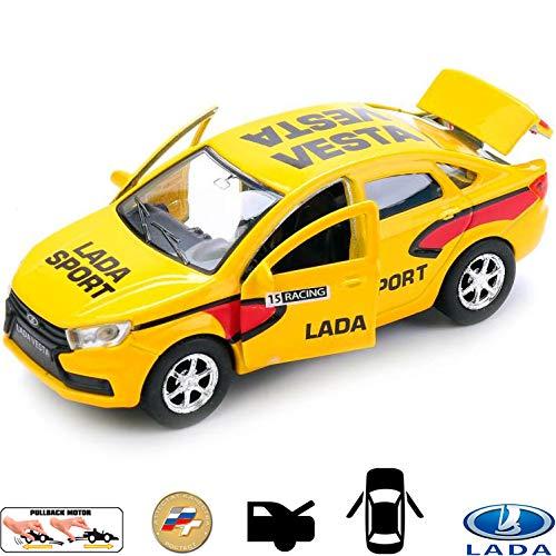 (Diecast Metal Model Car Lada Vesta Sport Russian Toy Die-cast Cars)