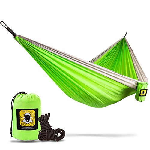 bear-butt-double-parachute-camping-hammock-lime-green-gray