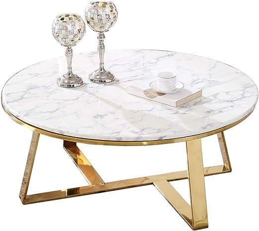 KUKU-mesas de centro Mesa de Centro Moderna de mármol Blanco ...
