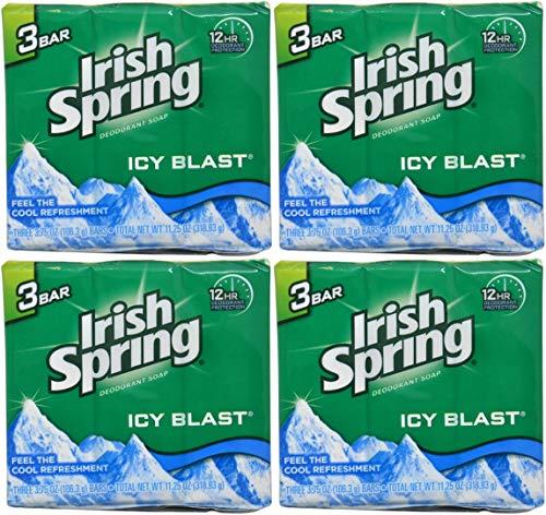 - Irish Spring Bath Bar, Icy Blast 3.75 Oz, 12 Count 4pack of 3 Bar