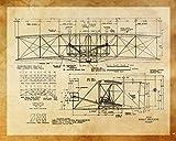 Wright Brothers Flyer Schematics Retro Print 16