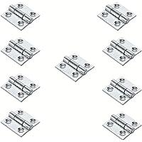GeZu-Impex ® 10x Mini Scharnieren, Vouwbare Butt Scharnieren, Scharnier voor kleine kasten, 25 x 25 mm, Electrolytisch…