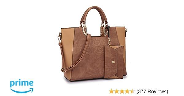 Amazon.com  MMK collection Fashion Handbag with coin purse Classic Women Purse  Handbag for Women` Signature fashion Designer Satchel Purse ~ Beautiful ... 1eda6ff052739