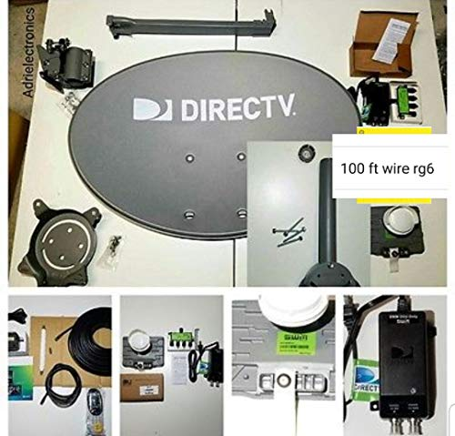 New AT&T Complete Directv 4K Satellite Dish Full HD Sat 101' 110' 119' 103' 99' 95 Reverse Band Last Test Full English, Spanish & Local Station FULL lLive 24/7 Tech Support (4k Tv Direct)
