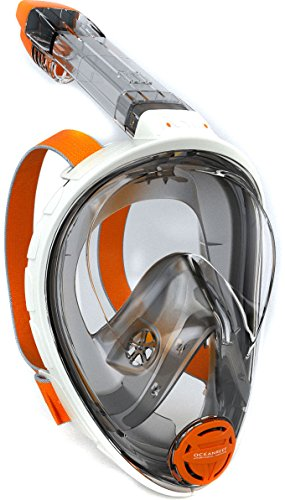 Ocean Reef Aria Full Face Snorkel Mask (White, Large/Extra Large)