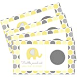 Yellow Elephant Scratch Off Games for Baby Shower and Parties (Set of 28 Cards) Neutral Boy or Girl Little Peanut Theme