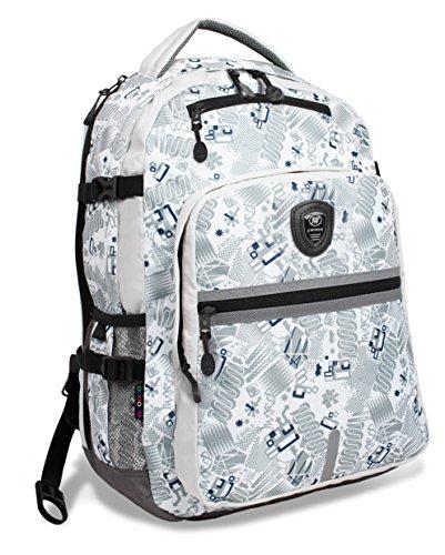 J World New York Cloud Laptop Backpack, Blinker white
