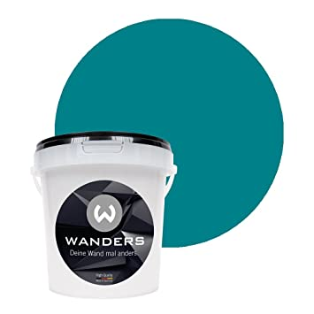Wanders24 Tafelfarbe 1liter Turkis Matte Wandfarbe In 20