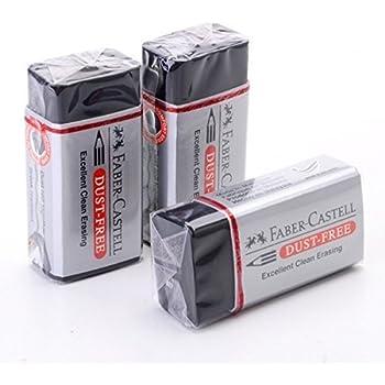 Faber-Castell Pencil Eraser Dust Free [Pack of 3] - Super Save Pack