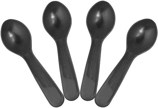 "1000 3/"" Plastic Disposable Tasting Taster Sample Ice Cream Gelato Spoon Spoons"