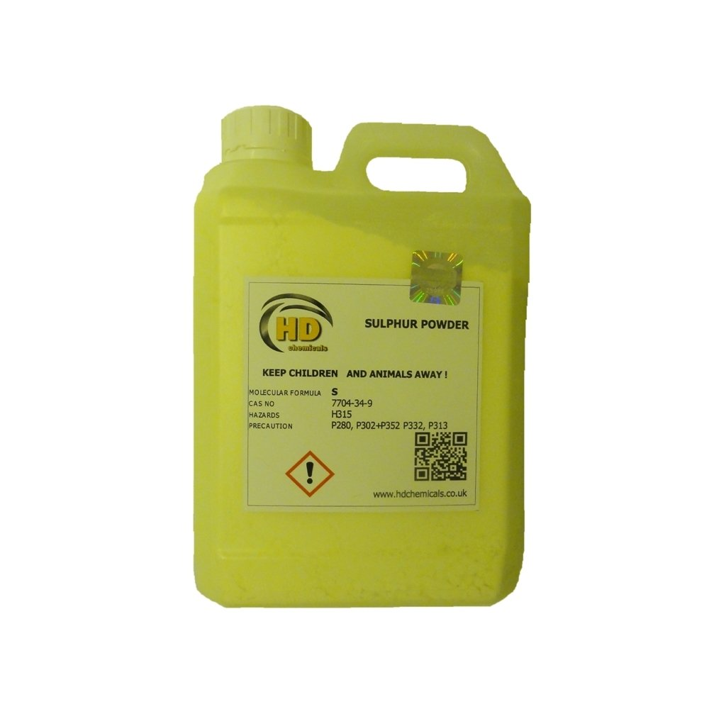 99.99% PURE GRADE Flowers of Sulphur Powder 1.2kg HDPE Jerry Can FREE POSTAGE, When added to soil or growing media, it can rapidly correct PH levels. HD Chemicals