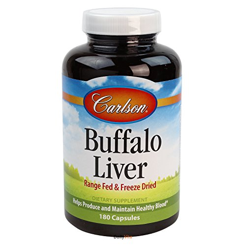 Carlson Labs Buffalo Liver, Range Fed and Freeze Dried, 180 Capsules (Pack of 3) by Carlson Laboratories