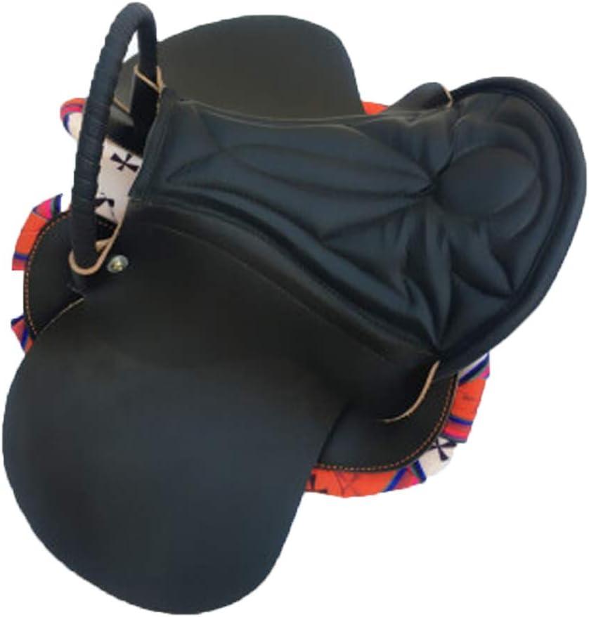 BLCC Mobiliario para sillas de Montar Equipo para Caballos Expositor de sillas Adornos para sillas de Montar Juego Completo de taburetes para sillas de Montar, sillín pequeño, Adecuado Black