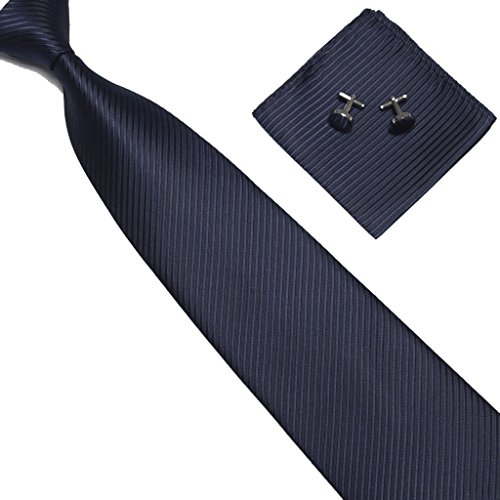 Navy Blue Square Cufflinks - 5