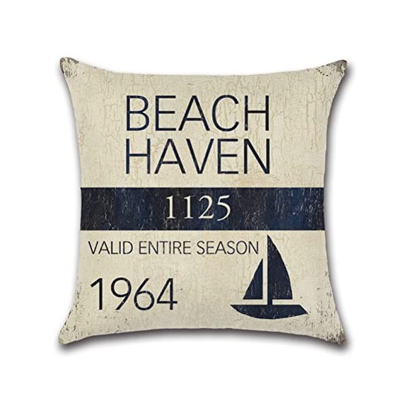 Vintage Series Throw Pillow Case U-Love Beach Cushion Cover for 18 X 18 Inch Nautical Pillow Inserts,4 Pack Coastal Pillow Covers - ✔Made of Durable and Environmentally Friendly Cotton Linen Materials.soft, fade-resistant and wrinkle-resistant;Keep your Square Throw Pillow clean and against scratch, finger marks. ✔Beach Pillow Cover,used for 18 x 18 Inches Pillow Inserts (pls note:Inserts are not included and the pattern paint one side only). ✔Easy to match your sofa, couch & other pillows.Soft and durable for both indoors (living room, office,bedroom, etc.) and outdoors (patio,car etc.). - patio, outdoor-throw-pillows, outdoor-decor - 514 YmJCf7L. SS570  -