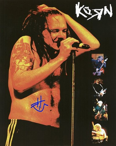 Korn John Autographed Preprint Signed 11x14 Poster Photo