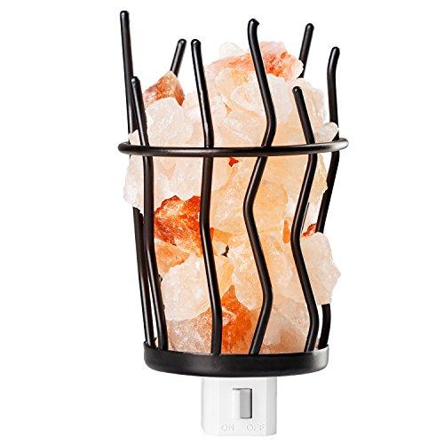 mockins Natural Himalayan Salt Night Light Basket Style #3 - Holiday Gift … (Western Night Light)