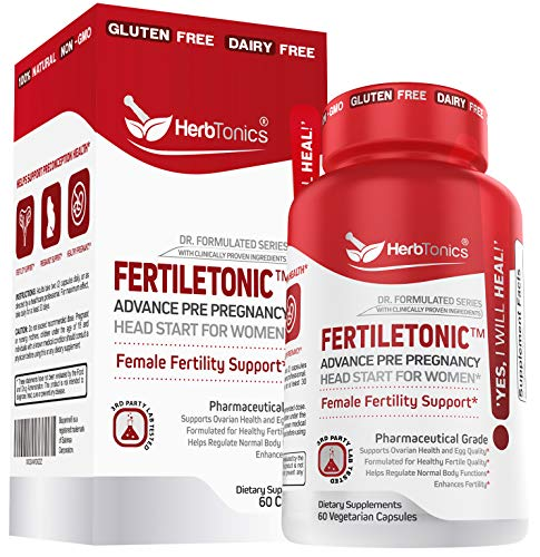 Fertility Supplements For Women To Help Pregnancy & Better Conception + Prenatal Vitamins - Aid Ovulation, Regulate Your Cycle, Balance Hormones, with Myo-Inositol, Folate Folic Acid Pills 60 Capsules