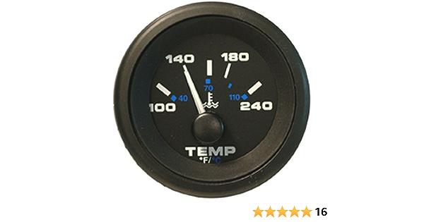 Beede Boat Temperature Gauge 9427632 Inch Gold Black