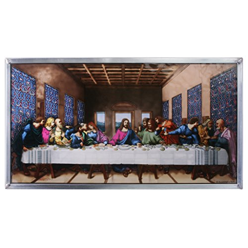 Stained Glass Panel - Da Vinci The Last Supper Stained Glass Window Hangings - Art Glass Window Treatments by Design Toscano