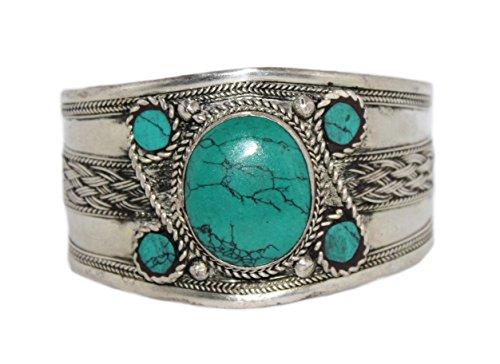 Turquoise Bracelet, Tibetan Bracelet, Silver Bracelet, Boho Bracelet, Gypsy Bracelet