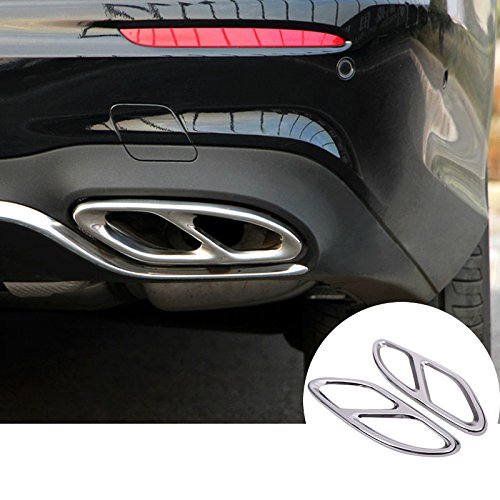 HOTRIMWORLD Rear Exhaust Muffler Tail Pipe Trim Cover 2pcs for Mercedes-Benz E Class W213 S213 C238 - Mercedes Benz Rear Mufflers