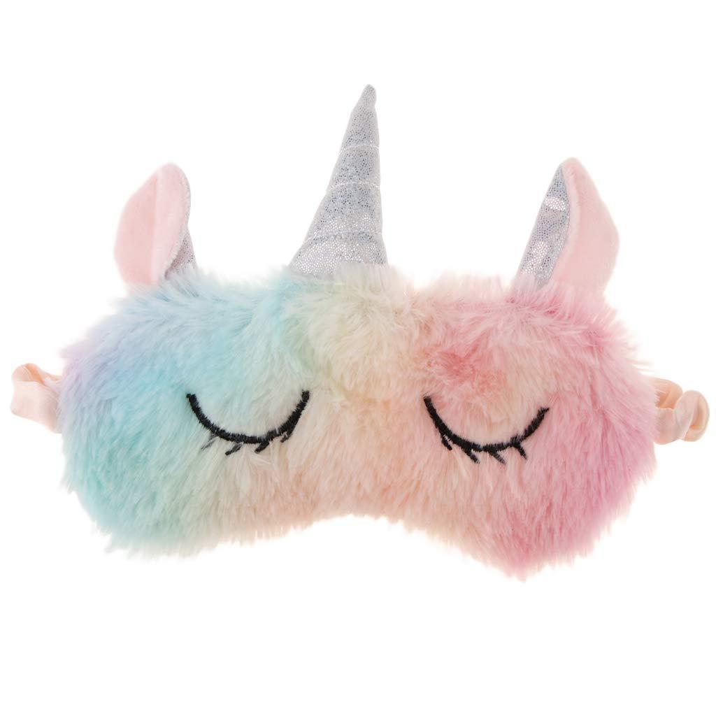 Cache Yeux Pour Dormir en Coton Masque de Sommeil Bandeau de Nuit pour Voyage en Avion Licorne Color/ée B Baosity Masque de Nuit Homme Femme Enfant
