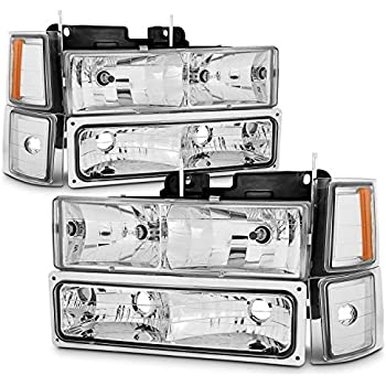 Amazon com: Headlight Assembly Kit for Chevy C/K Series 1500 2500