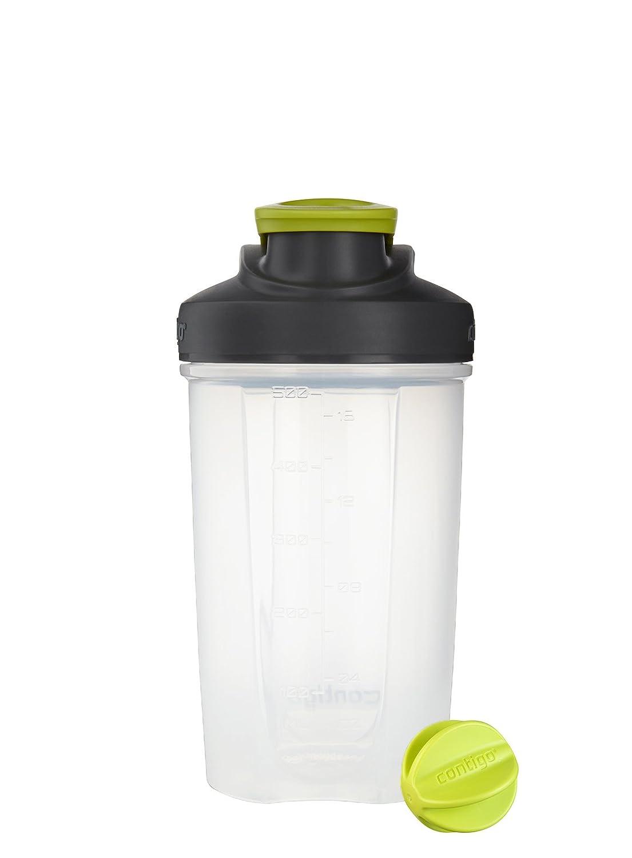Contigo Shake & Go Fit Snap Lid Shaker Bottle, 20 oz., Electric Green