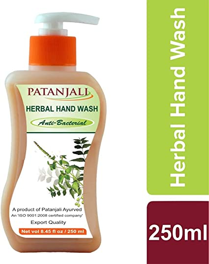 Amazon Com Patanjali Herbal Hand Wash 250 Ml Skin Health
