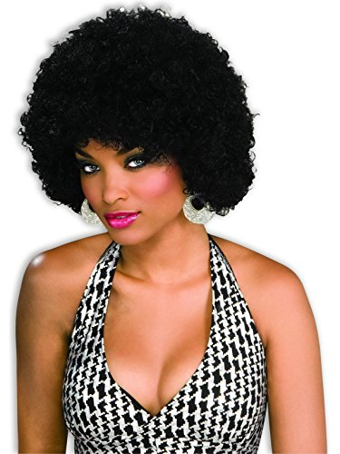 Unisex Afro Wig/ Assorted Color Clown Wigs, Black, One Size