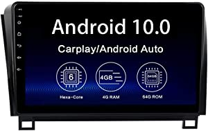 """Dasaita 10.2"""" Car Radio for Toyota Tundra 2007-2013 Sequoia 2008-2018 Android 10.0 GPS Navigation Head Unit Multimedia Video Player Android Auto Wireless Carplay 4G 64G PX6 DSP 1280 x 720 HD"""