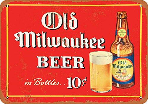 Wall-Color 7 x 10 Metal Sign - 1937 Old Milwaukee Beer - Vintage Look