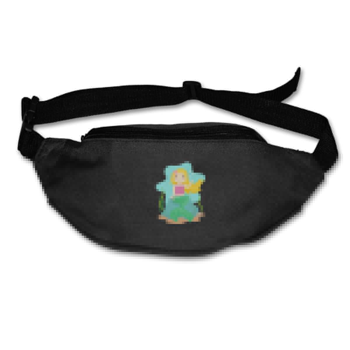 Cute Mermaid Girl Sport Waist Bag Fanny Pack Adjustable For Travel