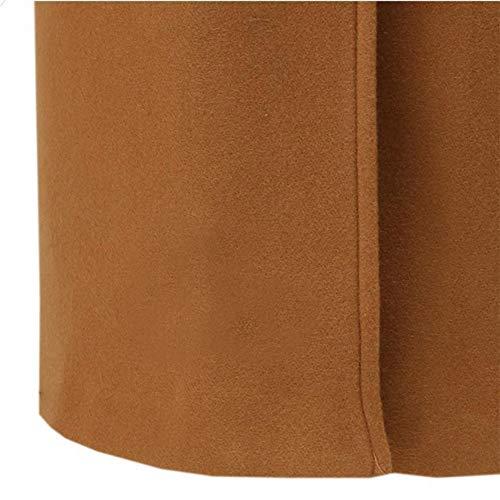 in posteriore cotone indossato essere e cappuccio tinta Jacket unita Women Khaki con Jacket Amuster Coat anteriore può antivento 7I11qT