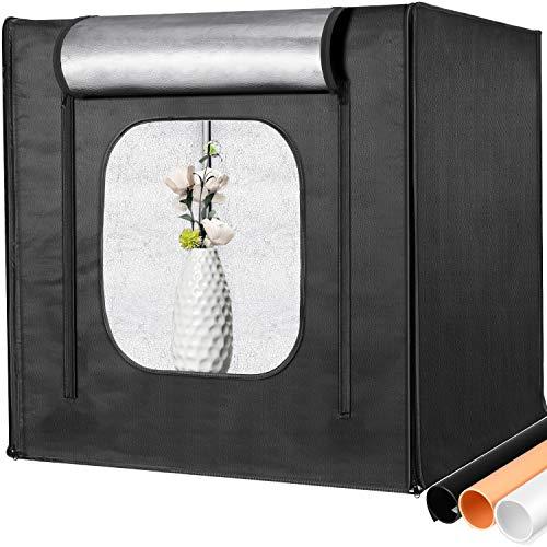 Neewer Professional Photo Light Box Kit 20x20inch Adjustable Brightness Studio Photography Lighting Shooting Tent with 2…