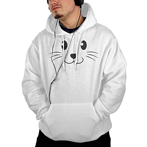 Men TeeStars - Cute Face Halloween Easy Costume Mountain Climbing Funny Hoodie Sweatshirt Size S White