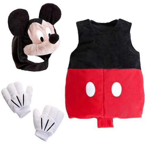 Disney Store Deluxe Infants and Toddlers Mickey Mouse Costume Size 3 - 6 Months - Corduroy Suit Costume