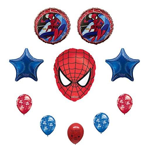 Spiderman Happy Birthday Balloon Bouquet