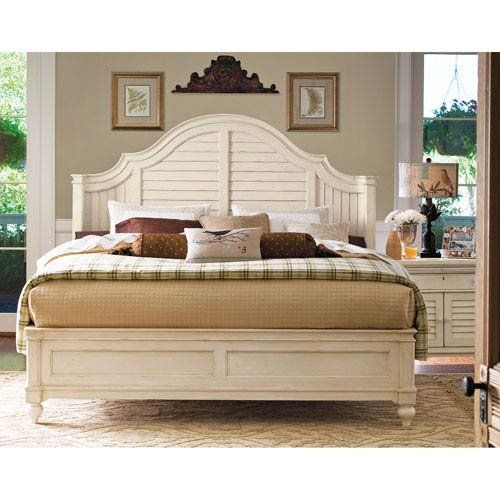 Paula Deen Home Complete Steel Magnolia Headboard/Footboard and Bed Rails 6/6, Linen