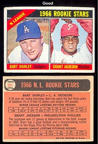 - 1966 Topps Regular (Baseball) Card# 591 shirley/Jackson of the Philadelphia Phillies Good Condition