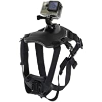 Go Pro Fetch Adjustable Dog Body Harness Vest Collar - T2O® Action Sports Camera Mount for Xiaomi, Hero 6/5/4/3+