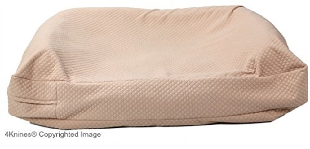 4Knines Luxury Dog Bed Cover USA Based Premium Durable Quilted Waterproof Heavy Duty Material Extra Large Tan