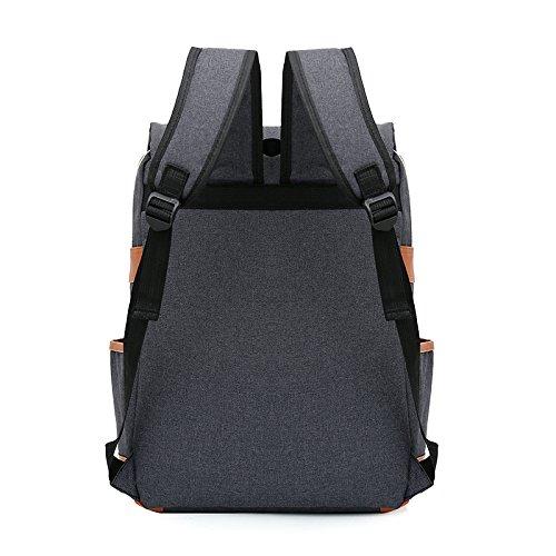 Mefly Double Shoulder Bag Student Bag Trend Computer Neue College Stil light gray RrFAaEi