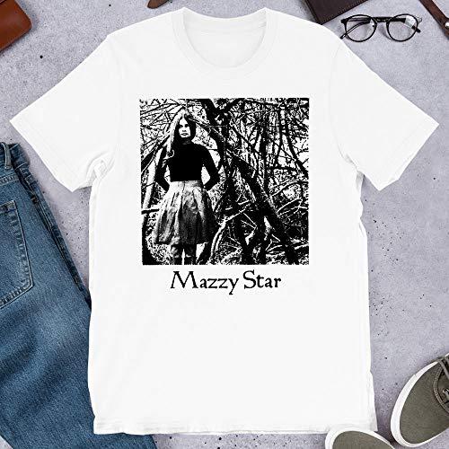 Mazzy Star Alternative Rock Band Hope Sandoval David Roback Keith Mitchell Graphic tee-Shirt Gift for Men Women Girls Unisex T-Shirt Sweatshirt (White-2XL)