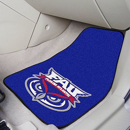 Florida Atlantic Owls NCAA 2-Piece Printed Carpet Car Mats (18x27) ()