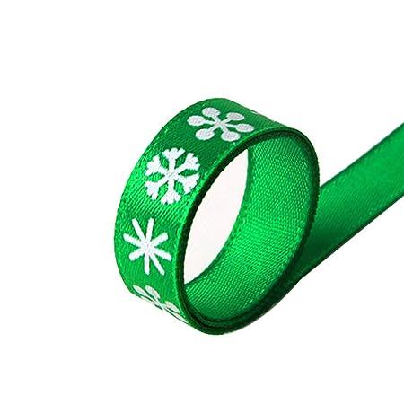 Da.Wa 1X Verde Cinta de Satén de Seda DIY Cinta de Regalo 1cm*23m ...
